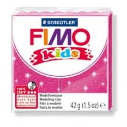 PASTA POLIMERICA FIMO KIDS 42gr ROSA GLITTER 262