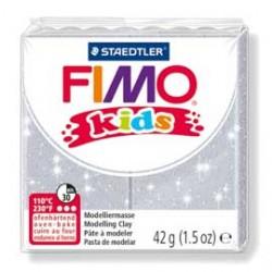 PASTA POLIMERICA FIMO KIDS 42gr ARGENTO GLITTER 812