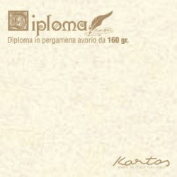 BLISTER 10 DIPLOMI PERGAMENA 297x420mm 160gr neutro avorio KARTOS