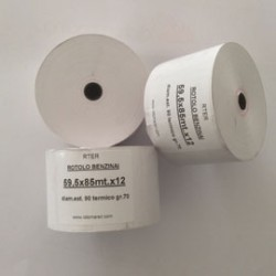 ROTOLO CARTA TERMICA F5041 55gr NEUTRA 59,5mmx120mt 95mm x DISTRIB.SELF SERVICE