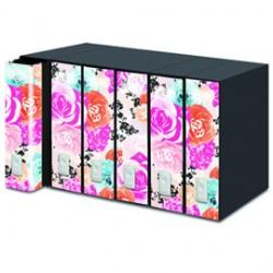 REGISTRATORE NEW DOX 2 50 Floral Edition DORSO 8CM F.TO PROTOCOLLO