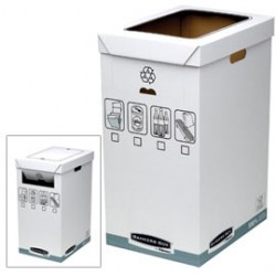 CESTINO per RICICLO 90Lt Bankers Box System