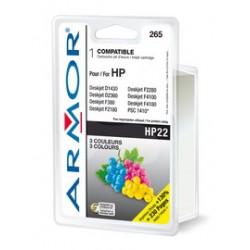 CARTUCCIA COLORI PER HP N22 PSC 1410, 1415, Deskjet F380, D1360 DOPPIA CAPACITA