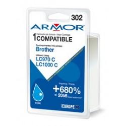 CARTUCCIA CIANO PER BROTHER LC 970/ LC1000