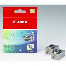 SCATOLA 2 REFILL COLORE BCI16 DS700 PIXMA IP90