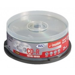 SCATOLA 25 CD-R SPINDLE 1X-52X 700MB 80MIN. SERIGRAFATO