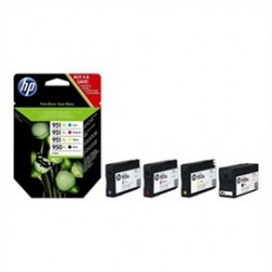 COMBO PACK 4 CARTUCCE INK OFFICEJET HP 950XL NERO 951XL GIANO MAG GIALLO