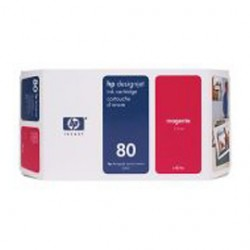 CARTUCCIA A GETTO DINCHIOSTRO HP N.80 MAGENTA 350ML