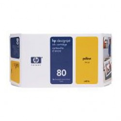 CARTUCCIA A GETTO DINCHIOSTRO HP N.80 GIALLO 350ML