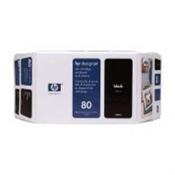 CARTUCCIA A GETTO DINCHIOSTRO HP N.80 NERO 350ML