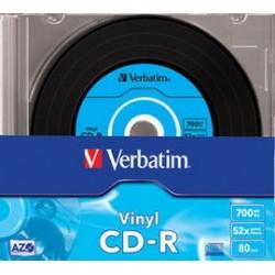 SCATOLA 10 CD-R DATALIFEPLUS DATA VINYL SLIM 1X-52X 700 MB AZO COLOUR