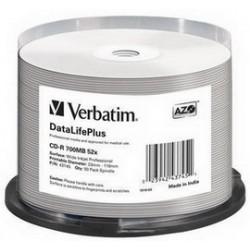 SCATOLA 50 CD-R BULK DATALIFEPLUS SPIND. 1X-52X 700MB STAMP.WIDE INKJET PHOTO