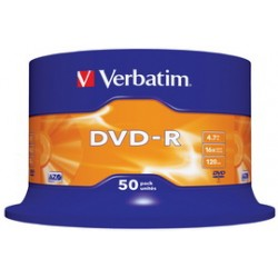SCATOLA 50 DVD-R SPINDLE 16X 4.7GB 1 MATT SILVER