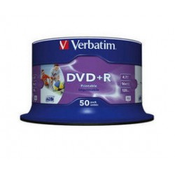 SCATOLA 50 DVD+R 4.7GB / 120 STAMPABILE WIDE PRINT NO ID NR. SPINDLE