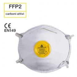 Scatola 10 MASCHERINE FILTRANTI FFP2 con valvola vapori organici