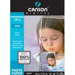 15074 CARTA PHOTO SAT.A4 GR.180 F20 987-272 CANSON