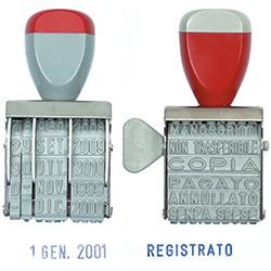 20715 TIMBRO POLINOME 12 DICITURE T/S72 RIVESTITO