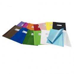 COPRIMAXI IN PVC LUCIDO 21X30CM BLU C/ALETTE E TASCA PORTANOME GREEN LINE - Conf da 25 pz.