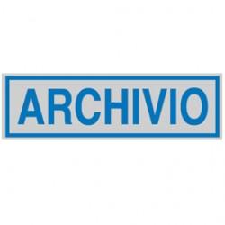TARGHETTA ADESIVA 165x50mm ARCHIVIO - Conf da 10 pz.