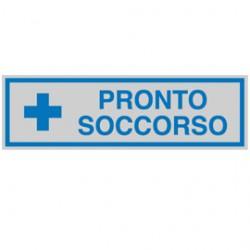 TARGHETTA ADESIVA 165x50mm PRONTO SOCCORSO - Conf da 10 pz.
