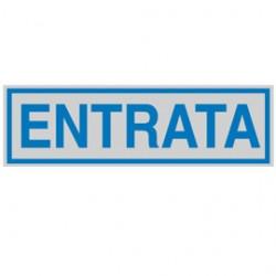 TARGHETTA ADESIVA 165x50mm ENTRATA - Conf da 10 pz.