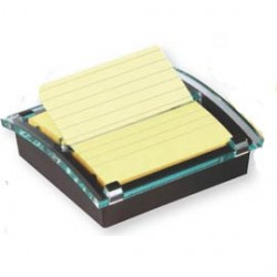 DISPENSER 90foglietti Post-itSuper Sticky 101x101mm righe DS440-SSCYL GIALLO C - Conf da 6 pz.