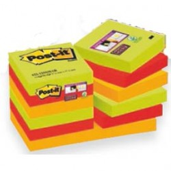 BLOCCO 90foglietti Post-itSuper Sticky 47,6x47,6mm 622-12SS-MAR-EU MARRAK. - Conf da 12 pz.