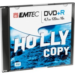DVD+R EMTEC4,7GB 16X SLIM CASE (kit 10pz)