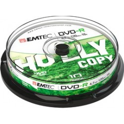 DVD-R EMTEC4,7GB 16X SPINDLE (kit 10zp)