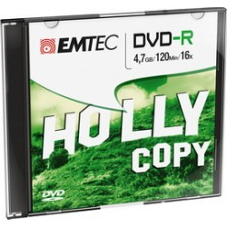 DVD-R EMTEC 4,7GB 16X SLIM CASE (kit 10pz)