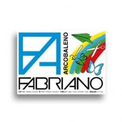 ALBUM ARCOBALENO (240X330MM) FG 10 140GR 5 COLORI FABRIANO - Conf da 10 pz.