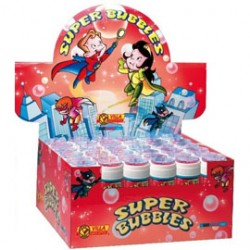 BOLLE SAPONE SUPER BUBBLES 60 ml. - Conf da 36 pz.