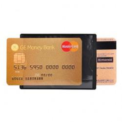 HIDENTITY Duo 85x60mm per bancomat /carta di credito NERO Exacompta - Conf da 10 pz.