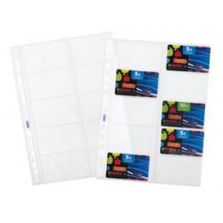 CONF. 10 BUSTE COI FORI  PORTA CARDS A4 FV01/0345
