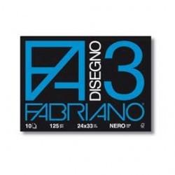ALBUM FABRIANO F3  24X33 NERO 10FG  125gr.