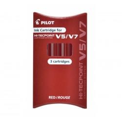 SET 3 REFILL ROSSI ROLLER HI-TECPOINT V5-V7 RICARICABILE BEGREEN PILOT