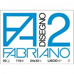 FABRIANO F2 24x33 LISCIO 20 FOGLI 110 gr