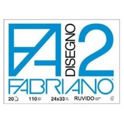 FABRIANO F2 24X33 RUVIDO 20 FOGLI 110gr