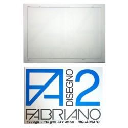 FABRIANO F2 24x33 20 FOGLI RIQUADRATO 110 gr