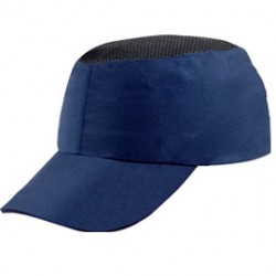CASCHETTO ANTI-URTO BLU tipo baseball COLTAN