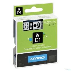 NASTRO 12mm X 7m NERO/TRASPARENTE DYMO D1 45010 S0720500