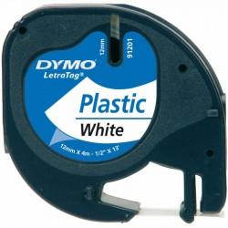 NASTRO IN PLASTICA BIANCO 12mm X 4m DYMO LetraTag 91201