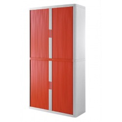 ARMADIO EASYOFFICE       BIANCO/ROSSO 110X41,5X204