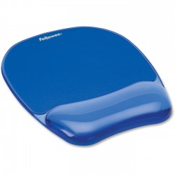 TAPPETINO MOUSE BLU CON POGGIAPOLSI CRYSTALS GEL Fellowes
