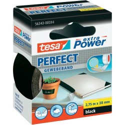 NASTRO ADESIVO TELATO NERO 38X2,75 tesa PERFECT extra Power