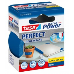 NASTRO ADESIVO TELATO BLU 38X2,75 tesa PERFECT extra Power