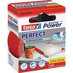 NASTRO ADESIVO TELATO ROSSO 38X2,75 tesa PERFECT extra Power