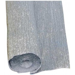 10RT CARTA CRESPA ARGENTO METAL 131 (50X150CM) SADOCH