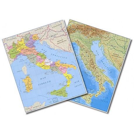 Europa Fisica Cartina Da Stampare.Cartina Da Tavolo Italia A3 Fisica Politica