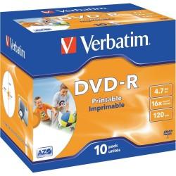 CUSTODIA 10 DVD-R STAMPABILI Verbatim